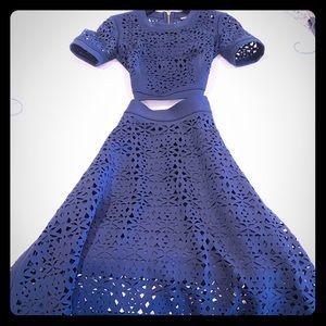 DKNY by Donna Karan Cropped top & maxi skirt
